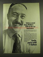 1973 Safeco Insurance Ad - Saved Gene Walters