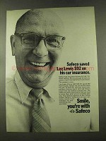 1973 Safeco Insurance Ad - Saved Lee Lewis