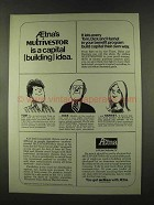 1973 Aetna Insurance Ad - Multivestor is Capital Idea