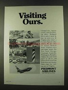 1973 Piedmont Airlines Ad - Visiting Ours