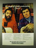 1973 United Air Lines Ad - Walt Frazier and Jerry Lucas