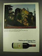 1973 Paul Masson Zinfandel Wine Ad