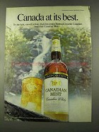 1973 Canadian Mist Whisky Advertisement - Canada At Its Best