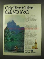 1973 Seagram's V.O. Whisky Ad - Only Tahiti