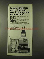 1973 Seagram's Benchmark Bourbon Ad - Really the Best