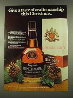 1973 Seagram's Benchmark Bourbon Ad