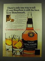 1973 Seagram's Benchmark Bourbon Ad - Still The Best