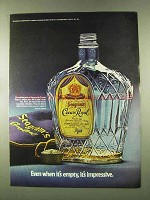 1973 Seagram's Crown Royal Ad - Even When It's Empty