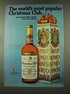 1973 Canadian Club Whisky Ad - Popular Christmas Club