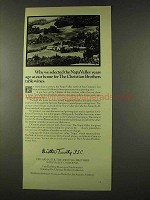 1973 Christian Brothers Wine Ad - Napa Valley