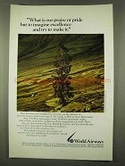 1973 World Airways Ad - Imagine Excellence