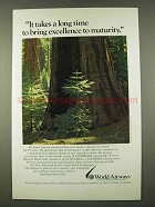 1973 World Airways Ad - Excellence to Maturity