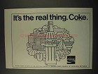 1973 Coca-Cola Soda Ad - It's The Real Thing. Coke