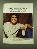 1973 Milk Ad - Michael Landon