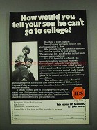 1973 IDS Investors Diversified Services Ad - Your Son