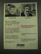 1973 Allstate Insurance Ad - We Were on vacation
