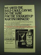 1973 Canada Dry Gin Ad - Saved the Bald Eagle