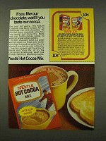 1973 Nestle Hot Cocoa Mix Ad - If You Like Chocolate