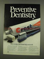 1973 Crest Toothpaste Ad - Preventive Dentistry