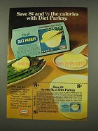 1973 Kraft Diet Parkay Margarine Ad - 1/2 The Calories