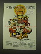 1973 Kraft Ad - Squeeze-A-Snak, Teez Dips, Cheese Whiz