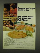 1973 Mrs. Paul's Fish Sticks and Fish Fillets Ad