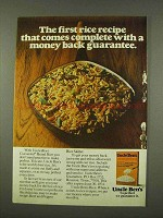 1973 Uncle Ben's Converted Rice Ad - A Guarantee