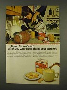 1973 Lipton Cup-a-Soup Ad - Want Instantly