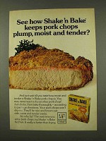 1973 Shake 'n Bake Ad - Keeps Pork Chops Plump