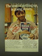 1973 Post Grape Nuts and Rasin Bran Ad - The Cost