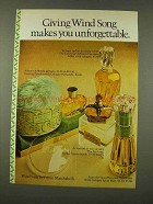 1973 Prince Matchabelli Wind Song Perfume Ad - Giving