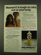 1973 Mennen E Deodorant Ad - Tough on Odor, Not Body