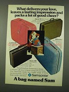 1973 Samsonite Luggage Ad - Saturn II, Caribbea II