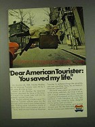 1973 American Tourister Luggage Ad - You Saved My Life