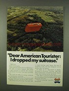 1973 American Tourister Luggage Ad - I Dropped Suitcase