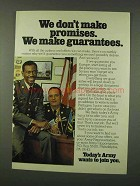 1973 U.S. Army Ad - We Don't Make Promises