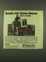 1973 Satoh Tractor Ad - Cuts Farm Chores Down to Size