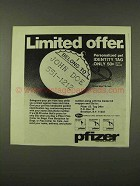 1973 Pfizer Pet Identity Tag Ad - Limited Offer