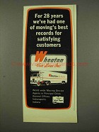 1973 Wheaton Van Lines Ad - Moving's Best Records