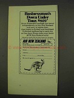 1973 Air New Zealand Ad - Businessman's Down Under