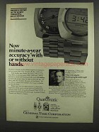 1974 General Time Quartzmatic Watch Ad - Neil Armstrong