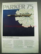 1974 Parker 75 Pen Ad - No Pen Is Perfect