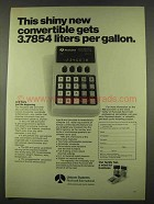1974 Rockwell 203 Converter Ad - Shiny New Convertible