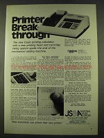 1974 Casio AS-P Electronic printing Calculator Ad
