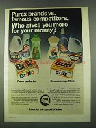 1974 Purex Bleach, SweetHeart Softener & Brillo Pads Ad
