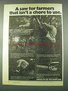 1974 Homelite 150 Chainsaw Ad - Saw For Farmers