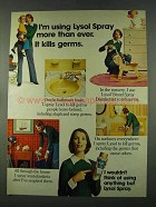 1974 Lysol Spray Ad - It Kills Germs