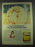 1974 Sears Lady Kenmore Freedom Maker Dishwasher Ad