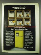 1974 General Electric Top Freezer Refrigerator Ad