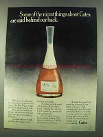 1974 Cutex Nail Polish Ad - Said Behind Our Back
